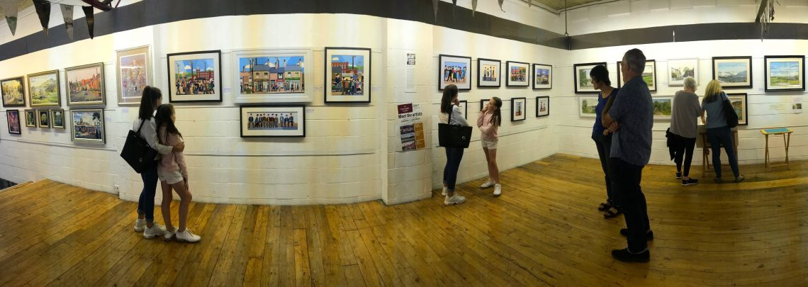 Photographs from exhibition at Uppermill Museum and Gallery